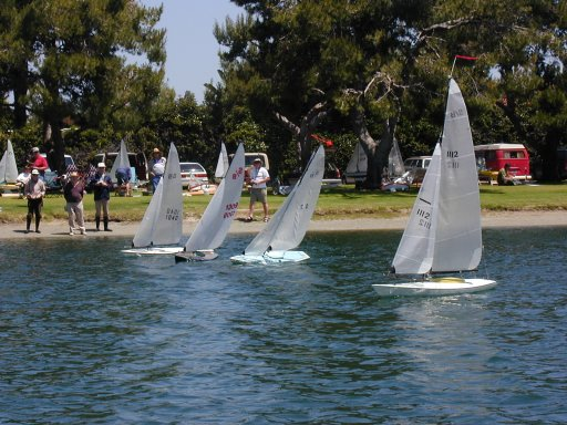 Model Sailboats at the Pond